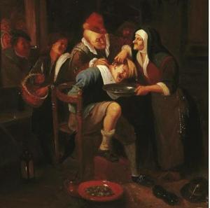 Последователь Яна Харвикзоона Стена (Лейден 1626-1679). Избавление от камней.